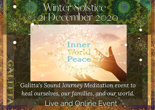 21 Dec 2020 Inner World peace Healing with Galitta